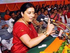 Work for the development of villages said by Smriti Irani to higher educational institutions