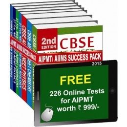 AIPMT/ AIIMS 2015 Success Pack with free 226 Online Test Series