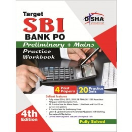 Target SBI Bank Preliminary & Main PO Exam 20 Practice Sets Workbook with SYNC-ABLE