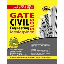 GATE Civil Engineering Masterpiece 2015 with 4 Mock Test CD 2nd edition