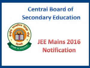CBSE Releases Admit Card of JEE (Main)