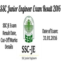 SSC: JE Exam Results 2016 Declared