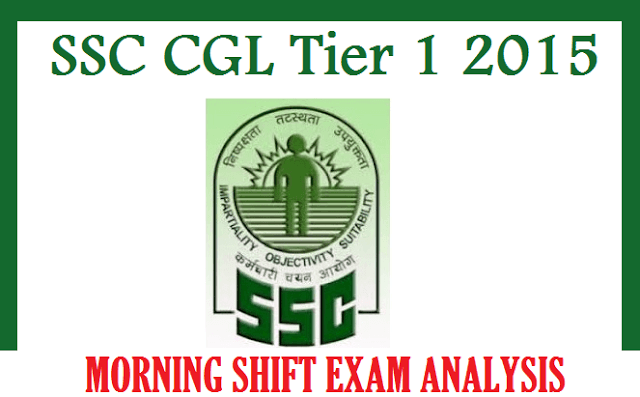SSC CGL Tier 1 2015 Analysis