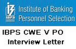Interview call letters released of IBPS PO/ MT V
