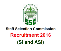 SSC SI and ASI Recruitment 2016