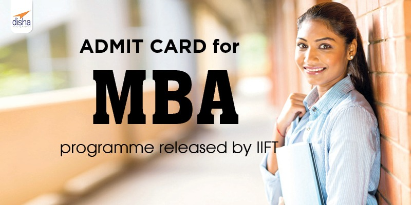ADMIT CARD for MBA Programme Released