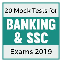 20 Online Mock Tests for Banking and SSC Exam 2019