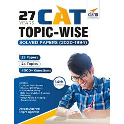 27 Years CAT Topic-wise Solved Papers (2020-1994) 14th edition