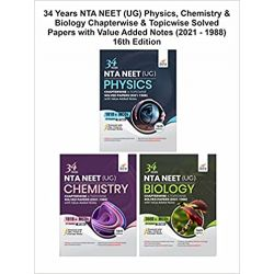 34 Years NTA NEET (UG) Physics, Chemistry & Biology Chapterwise & Topicwise Solved Papers with Value Added Notes (2021 - 1988) 16th Edition