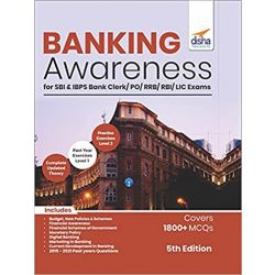 Banking Awareness for SBI & IBPS Bank Clerk/ PO/ RRB/ RBI/ LIC Exams 5th Edition
