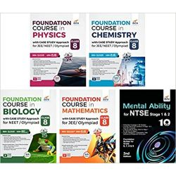 Class 8 Foundation Course in Physics, Chemistry, Mathematics, Biology with Case Study Approach & Mental Ability for JEE/ NEET/ Olympiad - 5th Edition