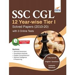 SSC CGL 12 Year-wise Tier I Solved Papers (2010-20) with 3 Online Practice Sets 2nd Edition