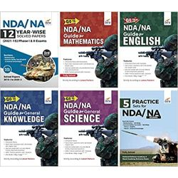 NDA/ NA Study Package - Guide + 12 Year-wise Solved Papers + 5 Practice Sets for Mathematics, English & General Knowledge