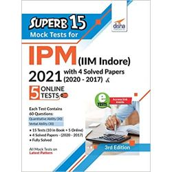 SuperB 15 Mock Tests for IPM (IIM Indore) 2021 with 4 Solved Papers (2020 - 2017) & 5 Online Tests 3rd Edition