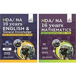 NDA/ NA 16 years Mathematics, English & General Knowledge Topic-wise Solved Papers (2006 - 2021) 6th Edition