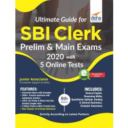 Ultimate Guide for SBI Clerk Prelim & Main Exams 2020 with 5 Online Tests (8th edition)