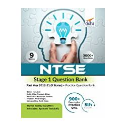 NTSE Stage 1 Question Bank - Past Year 2012-21 (9 States) + Practice Question Bank 5th Edition