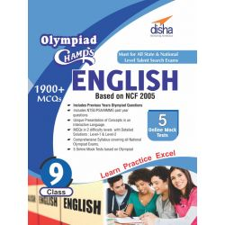 Olympiad Champs English Class 9 with 5 Mock Online Olympiad Tests