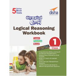 Olympiad Champs Logical Reasoning Workbook Class 1 with 5 Mock Online Olympiad Tests