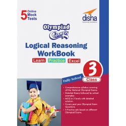 Olympiad Champs Logical Reasoning Workbook Class 3 with 5 Mock Online Olympiad Tests