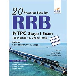 20 Practice Sets for RRB NTPC Stage I Exam (15 in Book + 5 Online Tests)