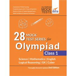 28 Mock Test Series for Olympiads Class 1 Science, Mathematics, English, Logical Reasoning, GK & Cyber 2nd Edition