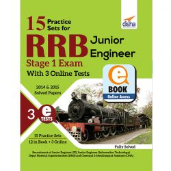 15 Practice Sets for RRB Junior Engineer Stage 1 Exam with 3 Online Tests eBook