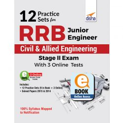 12 Practice Sets for RRB Junior Engineer Civil & Allied Engineering Stage II Exam with 3 Online Tests eBook