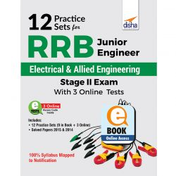 12 Practice Sets for RRB Junior Engineer Electrical & Allied Engineering Stage II Exam with 3 Online Tests eBook