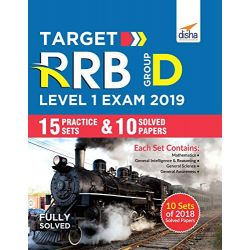 Target RRB Group D Level I Exam 2019 - 15 Practice Sets & 10 Solved Papers