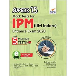 SuperB 15 Mock Tests for IPM (IIM Indore) Entrance Exam 2020 with 5 Online Tests 2nd Edition