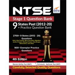 NTSE Stage 1 Question Bank - 9 States Past (2012-20) + Practice Question Bank 4th Edition