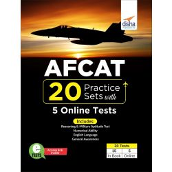 AFCAT 20 Practice Sets with 5 Online Tests