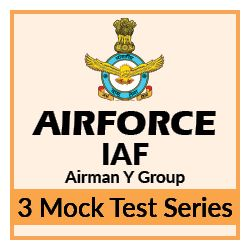 3 Mock Tests Series for IAF Airmen Group Y Exam
