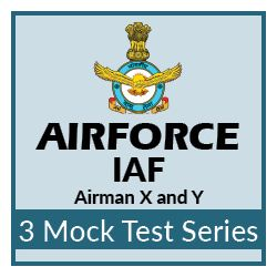 3 Mock Tests Series for IAF Airmen Group X and Y Exam