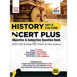 History, Art & Culture NCERT PLUS Objective MCQs for UPSC CSE & State PSC Prelim Exams
