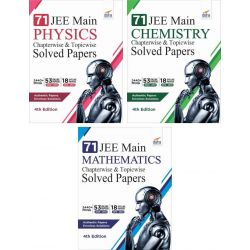 71 JEE Main ONLINE & OFFLINE Physics, Chemistry & Mathematics Topic-wise Solved Papers 7th Edition