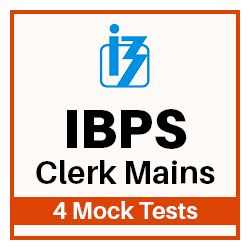 4 Online Mock Test Series for IBPS Clerk Main Exam 2018