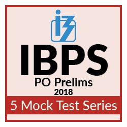 5 Online Mock Test Series for IBPS PO Prelims 2018