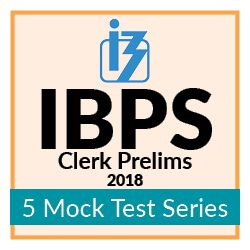 5 Online Mock Test Series for IBPS Clerk Prelim Exam 2018