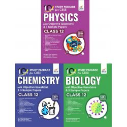 Combo 10 in One Study Package for CBSE Physics, Chemistry & Biology Class 12 with Objective Questions & 9 Sample Papers 4th Edition
