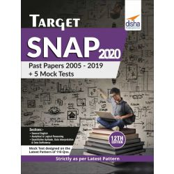 TARGET SNAP 2020 (Past Papers 2005 - 2019) + 5 Mock Tests 12th Edition