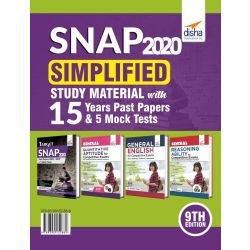 SNAP 2020 Simplified  Study Material with 15 Years Past Papers & 5 Mock Tests 9th Edition