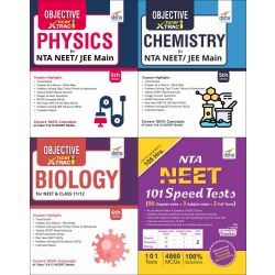 NEET Quality Question Bank in Physics, Chemistry & Biology with 10 Solved & 101 Mock Tests