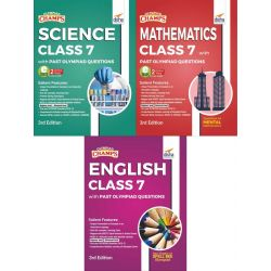 Olympiad Champs Science, Mathematics, English Class 7 with Past Questions 3rd Edition (set of 3 books)