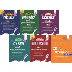 Olympiad Champs Science, Mathematics, English, Logical Reasoning, Cyber & GK Class 1 with 28 Mock Tests (set of 7 books) 2nd Edition