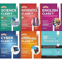 Olympiad Champs Science, Mathematics, English, Cyber & GK Class 7 with 30 Mock Tests (set of 6 books) 2nd Edition
