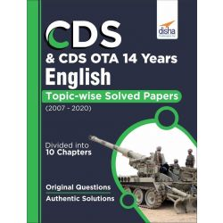CDS & CDS OTA 14 Years English Topic wise Solved Papers (2007-2020)
