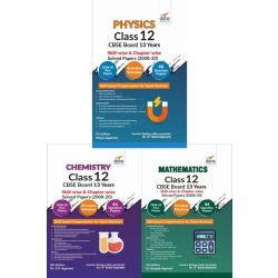Physics, Chemistry, Mathematics Class 12 CBSE Board 13 Years Skill-wise & Chapter-wise Solved Papers (2008 - 20) 7th Edition
