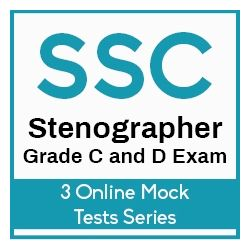 3 Online Mock Test Series – SSC Stenographer Grade C and D 2019